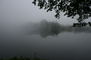 foggy labor day at lake 2014 - 9
